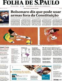 Capa do jornal Folha de S.Paulo 05/08/2021