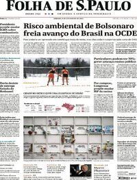 Capa do jornal Folha de S.Paulo 06/02/2021