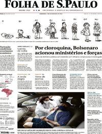 Capa do jornal Folha de S.Paulo 07/02/2021