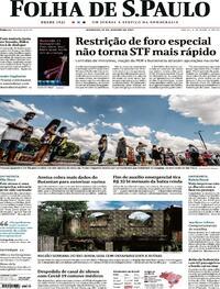 Capa do jornal Folha de S.Paulo 10/01/2021