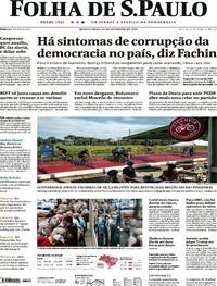 Capa do jornal Folha de S.Paulo 10/02/2021