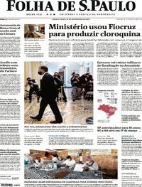 Capa do jornal Folha de S.Paulo 11/02/2021