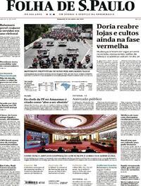 Capa do jornal Folha de S.Paulo 17/04/2021