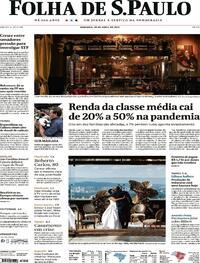 Capa do jornal Folha de S.Paulo 18/04/2021