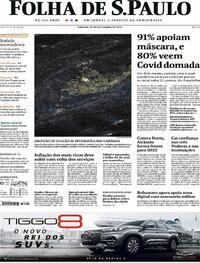 Capa do jornal Folha de S.Paulo 25/09/2021