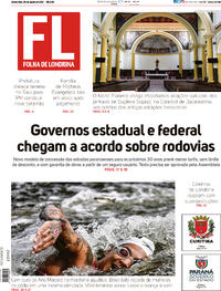 Capa do jornal Folha Londrina 05/08/2021