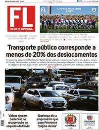 Capa do jornal Folha Londrina 15/10/2021