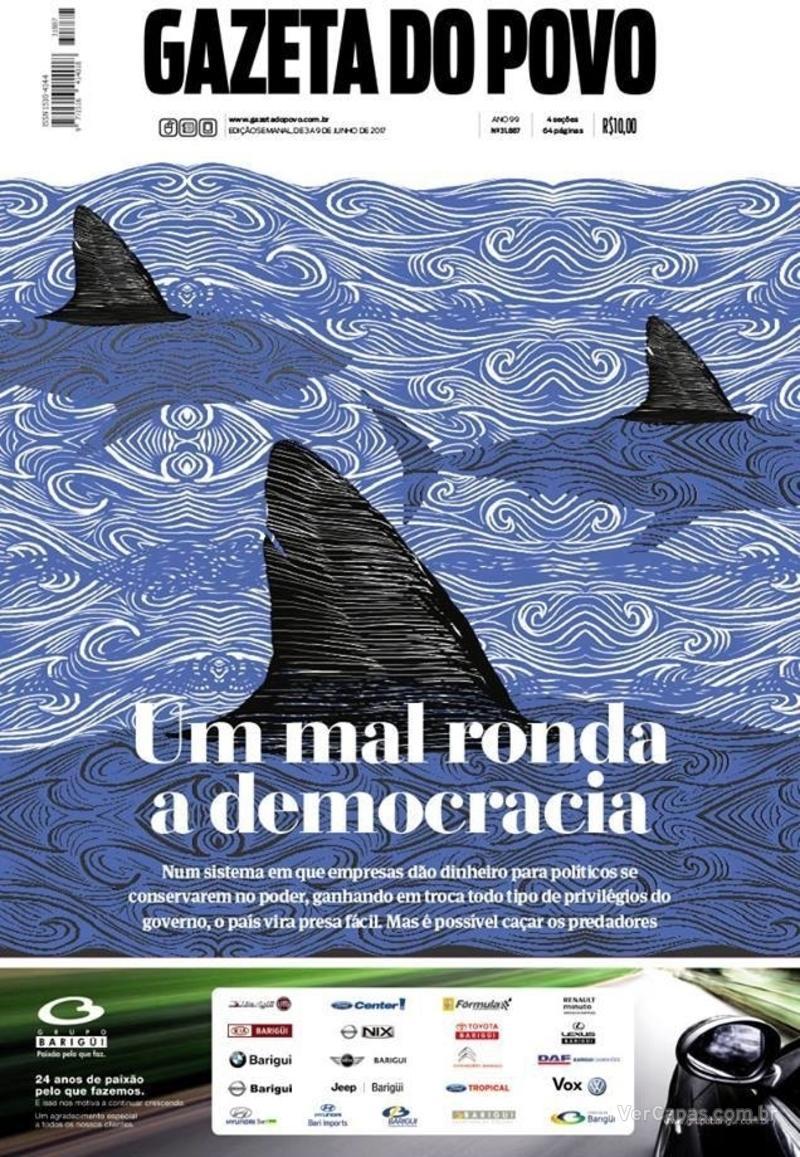 Capa do jornal Gazeta do Povo 03/06/2017