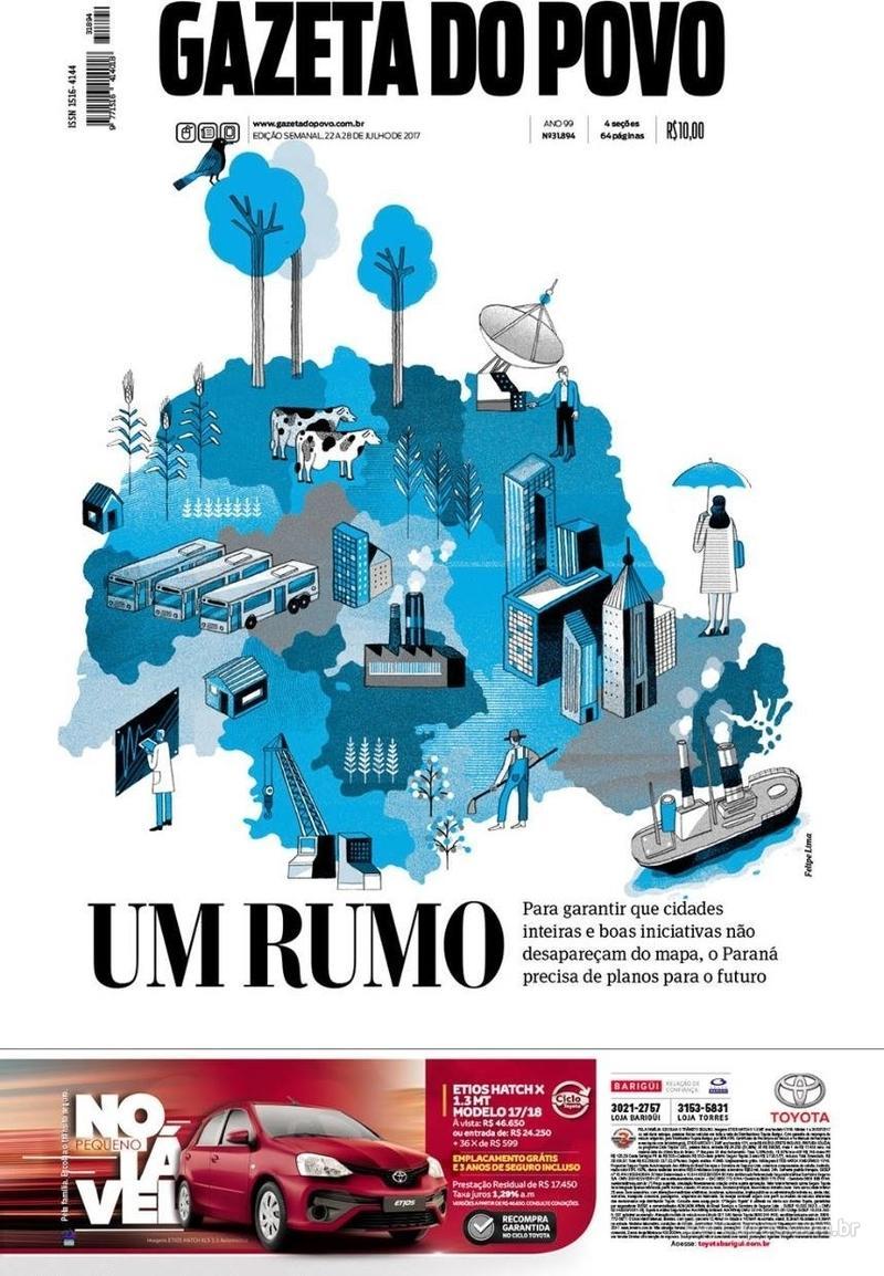 Capa do jornal Gazeta do Povo 22/07/2017