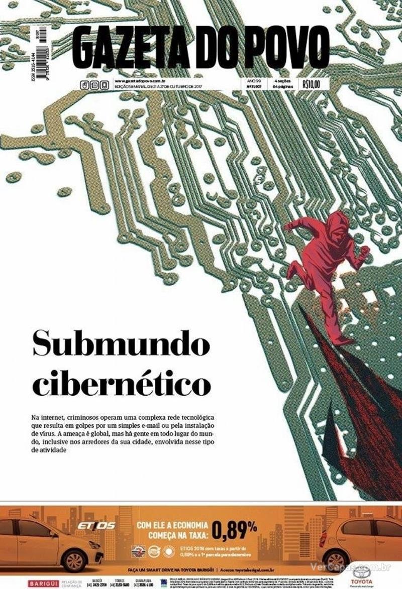 Capa do jornal Gazeta do Povo 21/10/2017