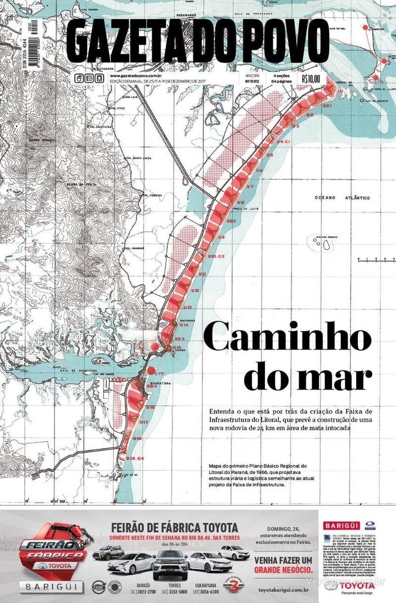 Capa do jornal Gazeta do Povo 25/11/2017