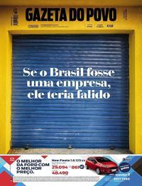 Capa do jornal Gazeta do Povo 08/07/2017