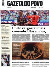 Capa do jornal Gazeta do Povo 15/05/2017