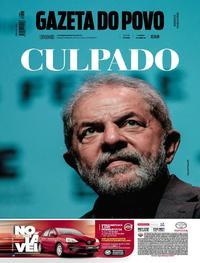 Capa do jornal Gazeta do Povo 15/07/2017