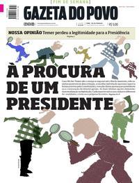 Capa do jornal Gazeta do Povo 20/05/2017