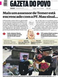 Capa do jornal Gazeta do Povo 24/05/2017
