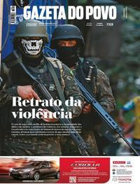 Capa do jornal Gazeta do Povo 30/09/2017