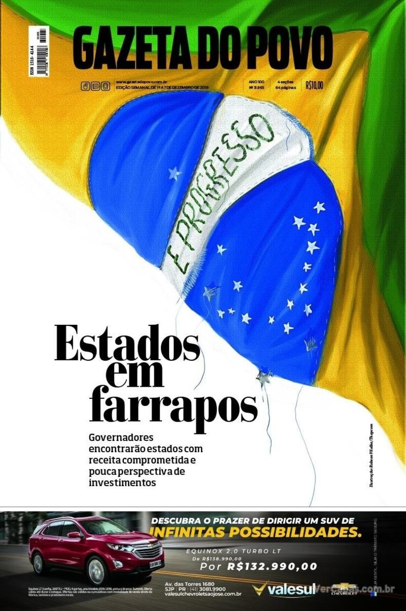 Capa Gazeta do Povo 2018-12-01