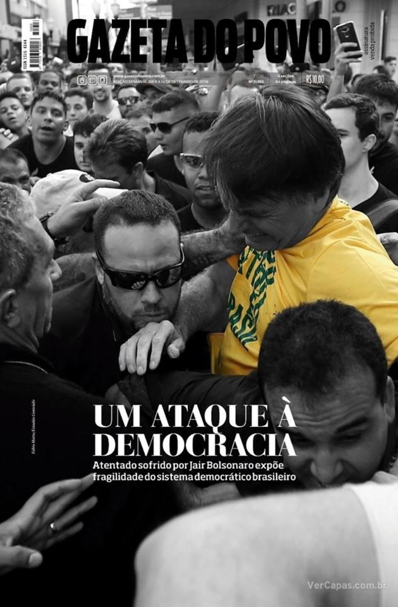 Capa do jornal Gazeta do Povo 08/09/2018
