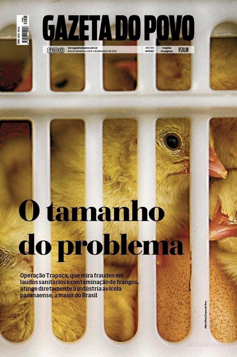 Capa jornal Gazeta do Povo 10/03/2018