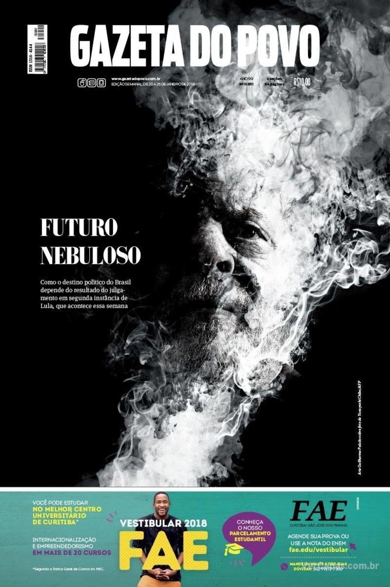 Capa Gazeta do Povo 2018-01-20