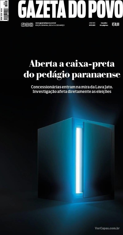 Capa do jornal Gazeta do Povo 24/02/2018