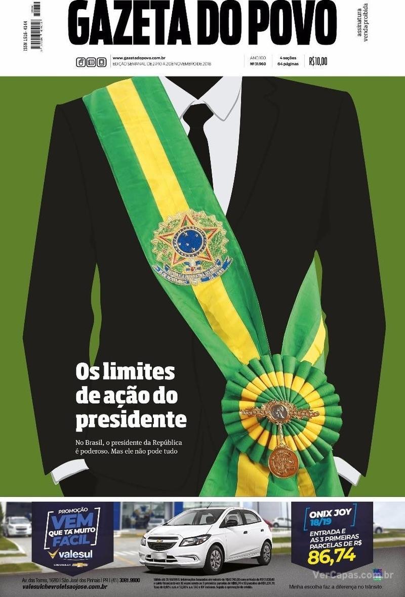 Capa Gazeta do Povo 2018-10-27