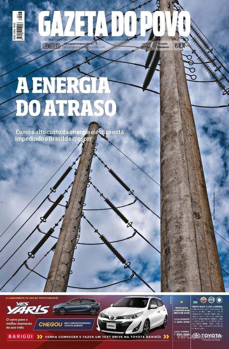 Capa jornal Gazeta do Povo 30/06/2018