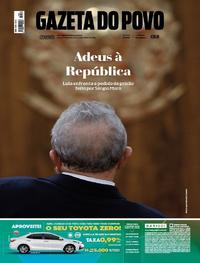 Capa Gazeta do Povo 2018-04-07