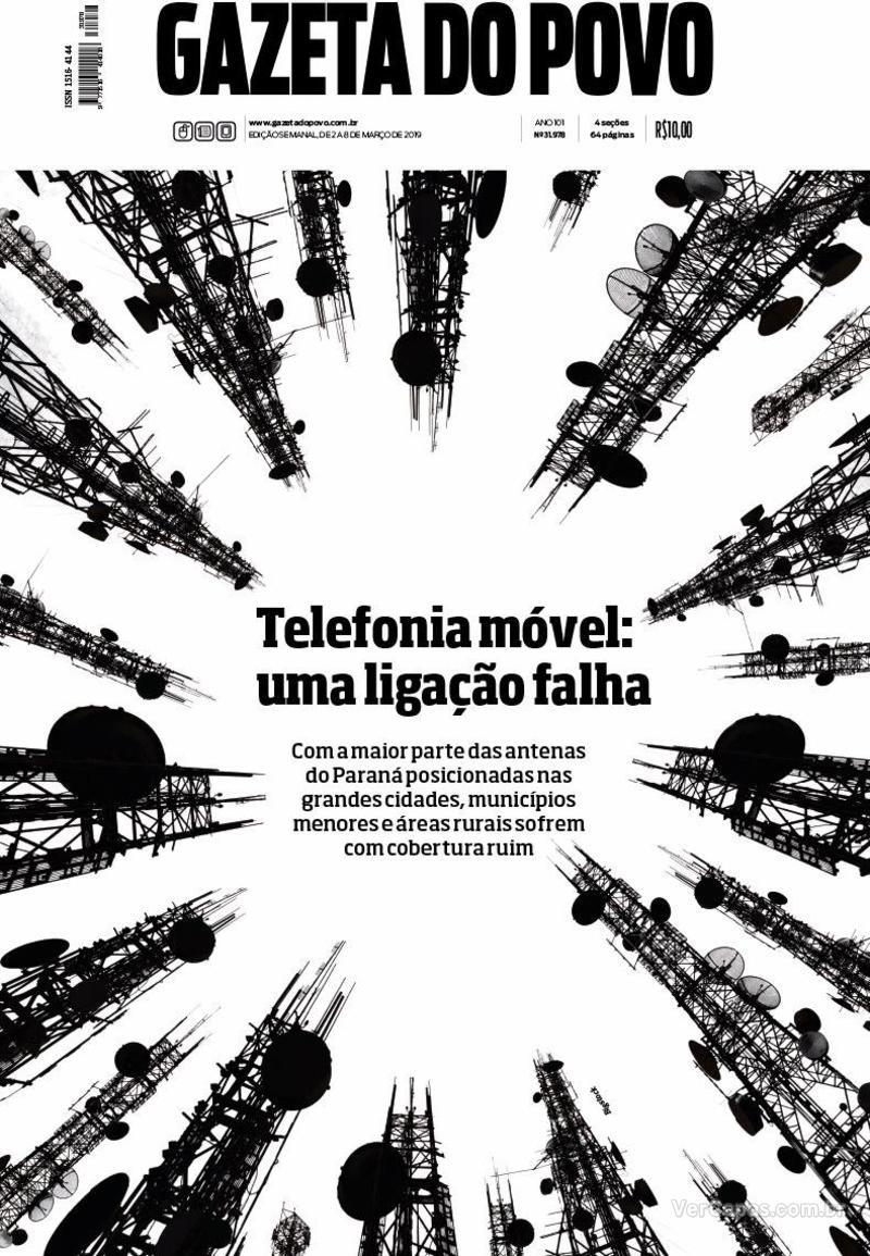 Capa Gazeta do Povo 2019-03-02