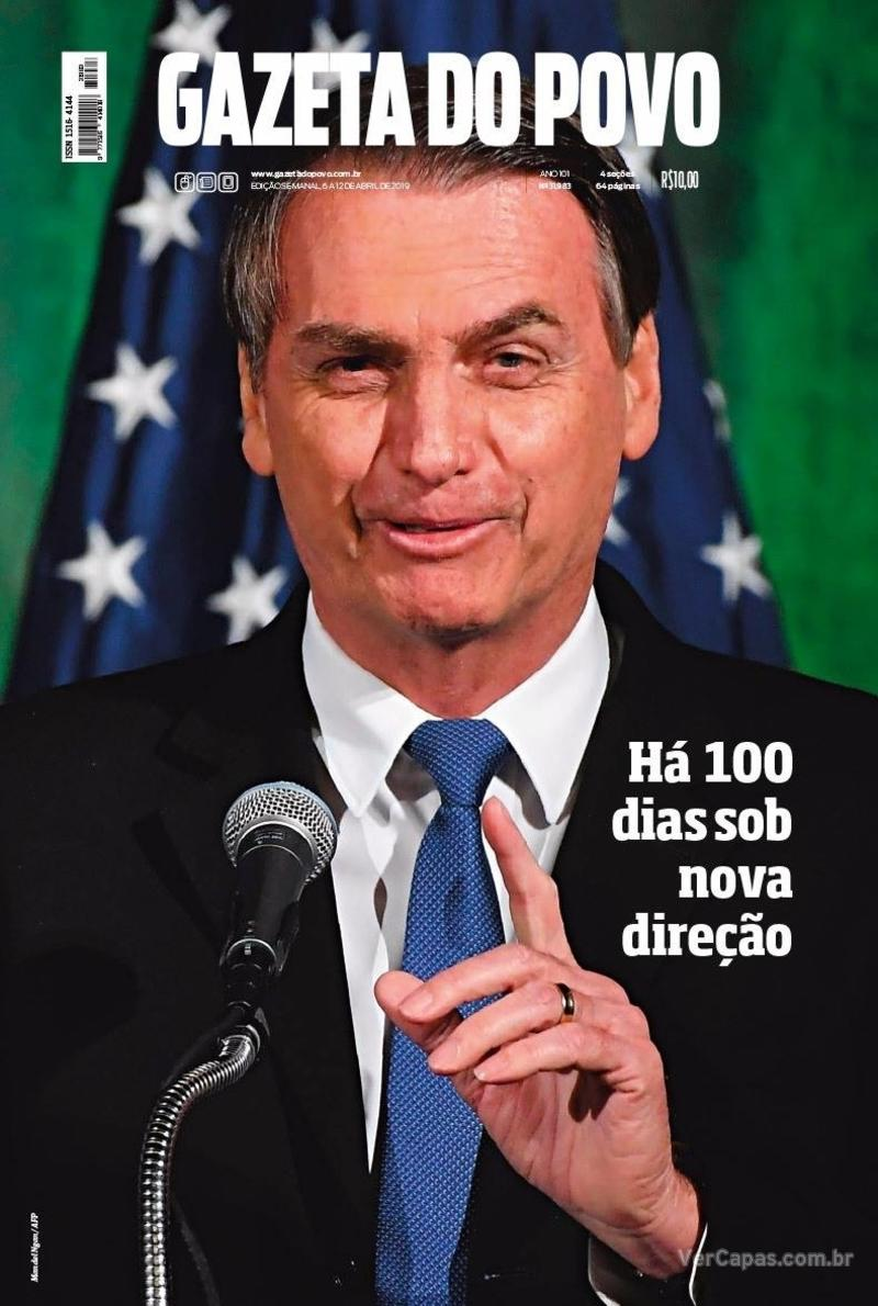 Capa do jornal Gazeta do Povo 06/04/2019