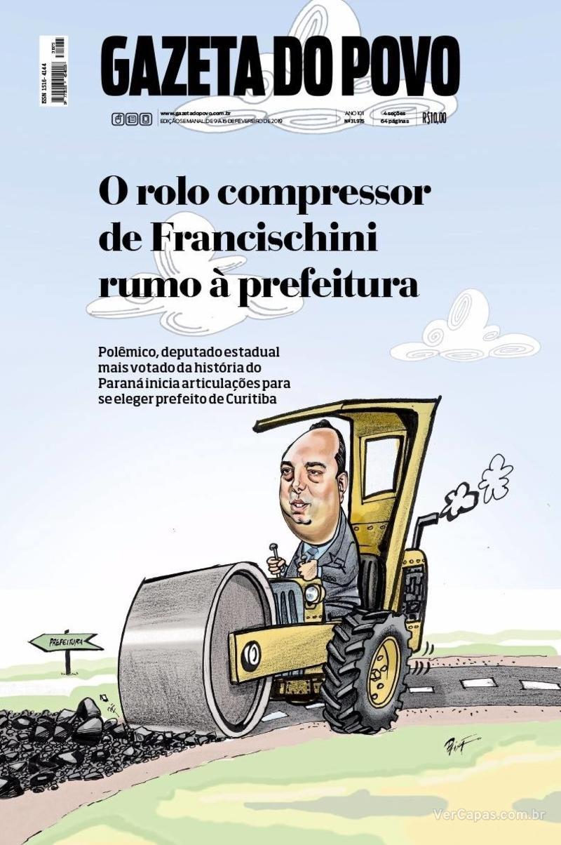 Capa jornal Gazeta do Povo 09/02/2019