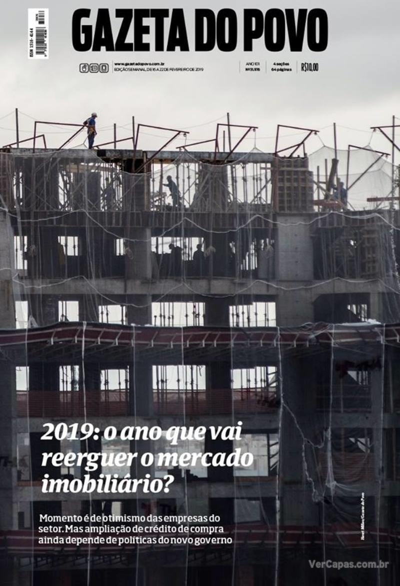 Capa Gazeta do Povo 2019-02-16