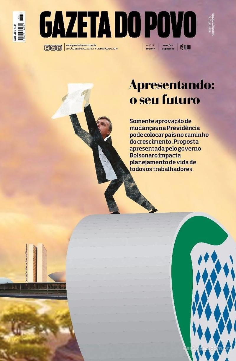 Capa Gazeta do Povo 2019-02-23 cd90cfc0ee483