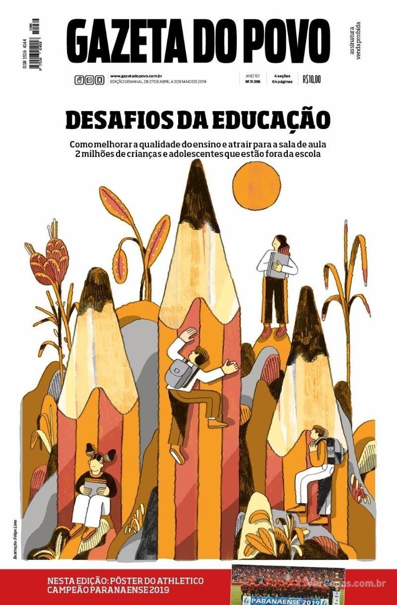 Capa do jornal Gazeta do Povo 27/04/2019