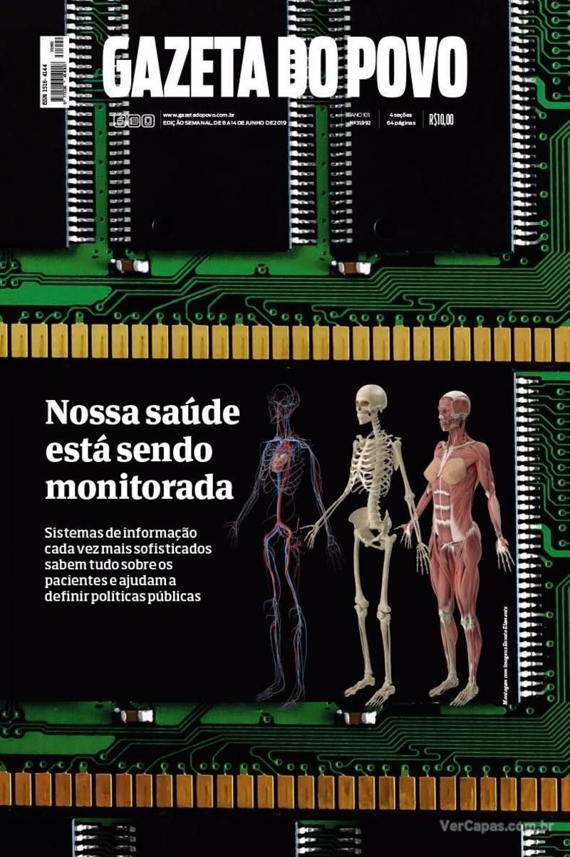 Capa do jornal Gazeta do Povo 08/06/2019