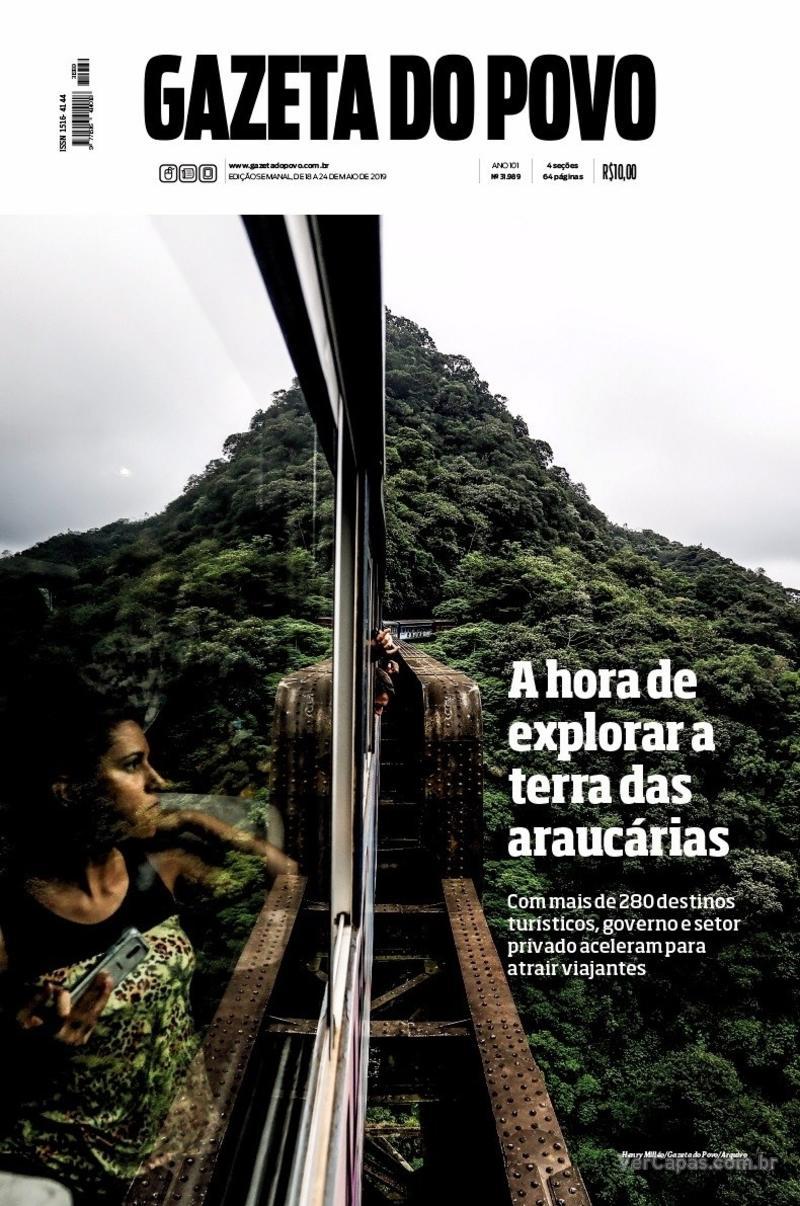 Capa do jornal Gazeta do Povo 18/05/2019