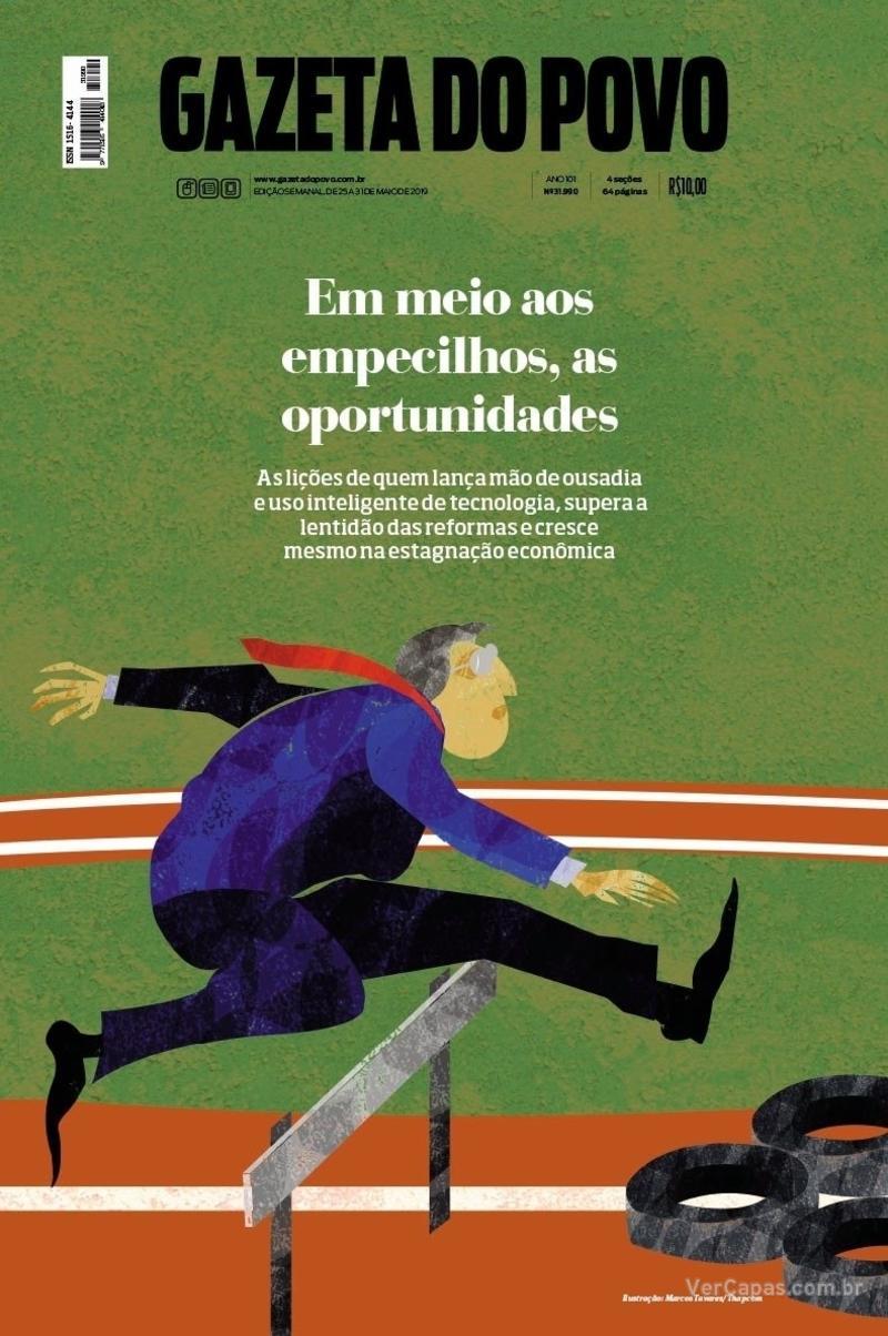 Capa do jornal Gazeta do Povo 25/05/2019
