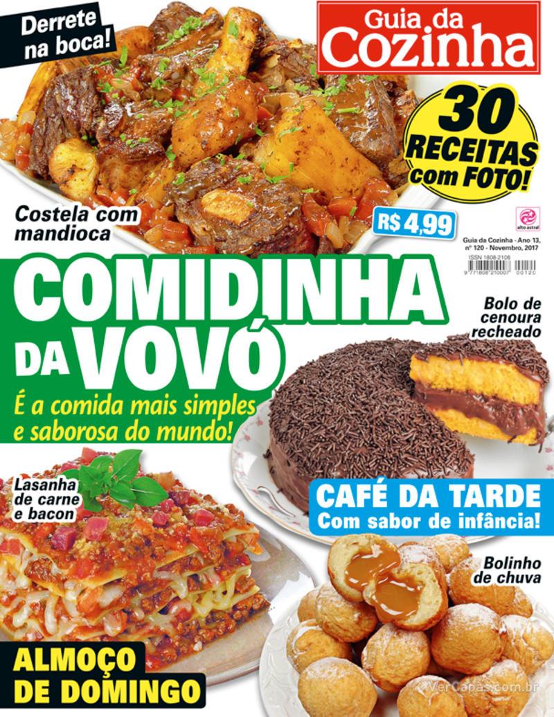 Capa da revista Guia da Cozinha 17/11/2017