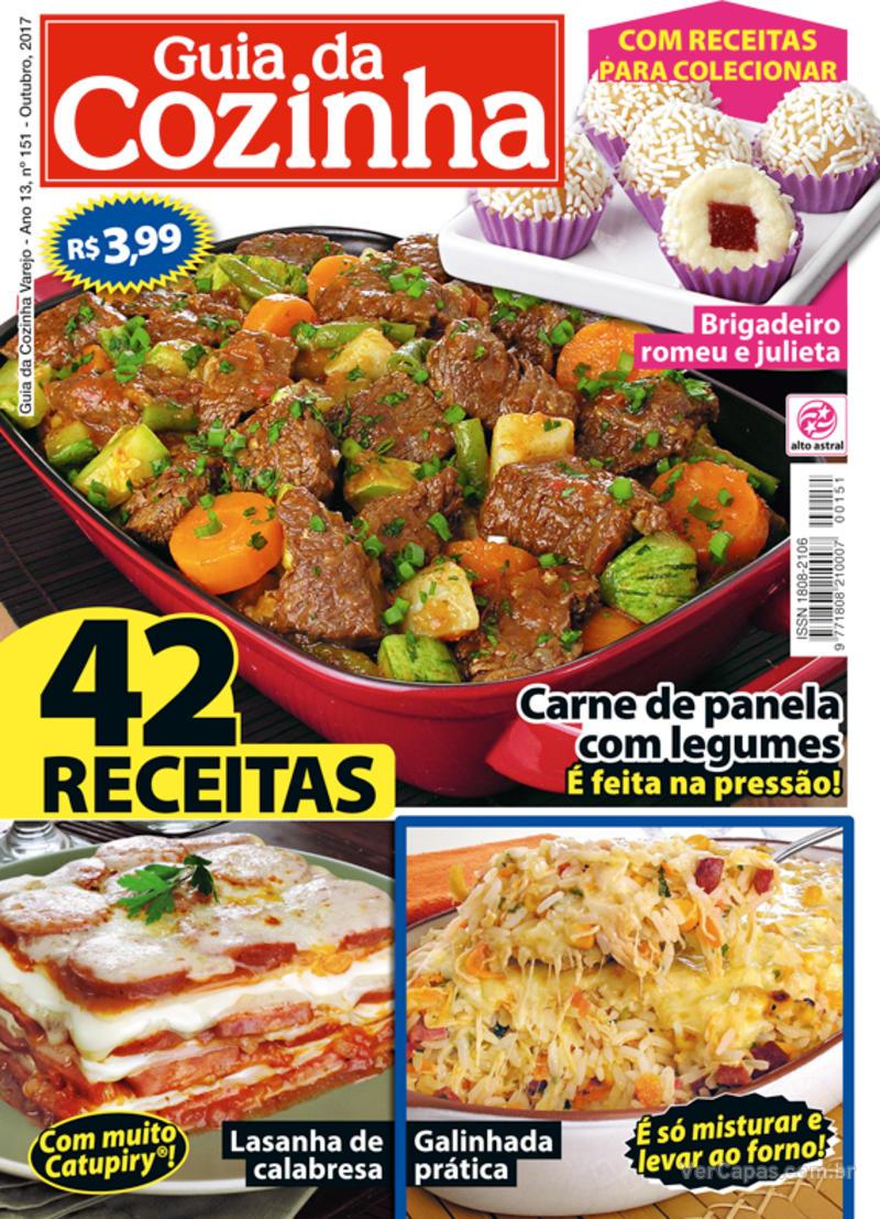 Capa da revista Guia da Cozinha 09/10/2017