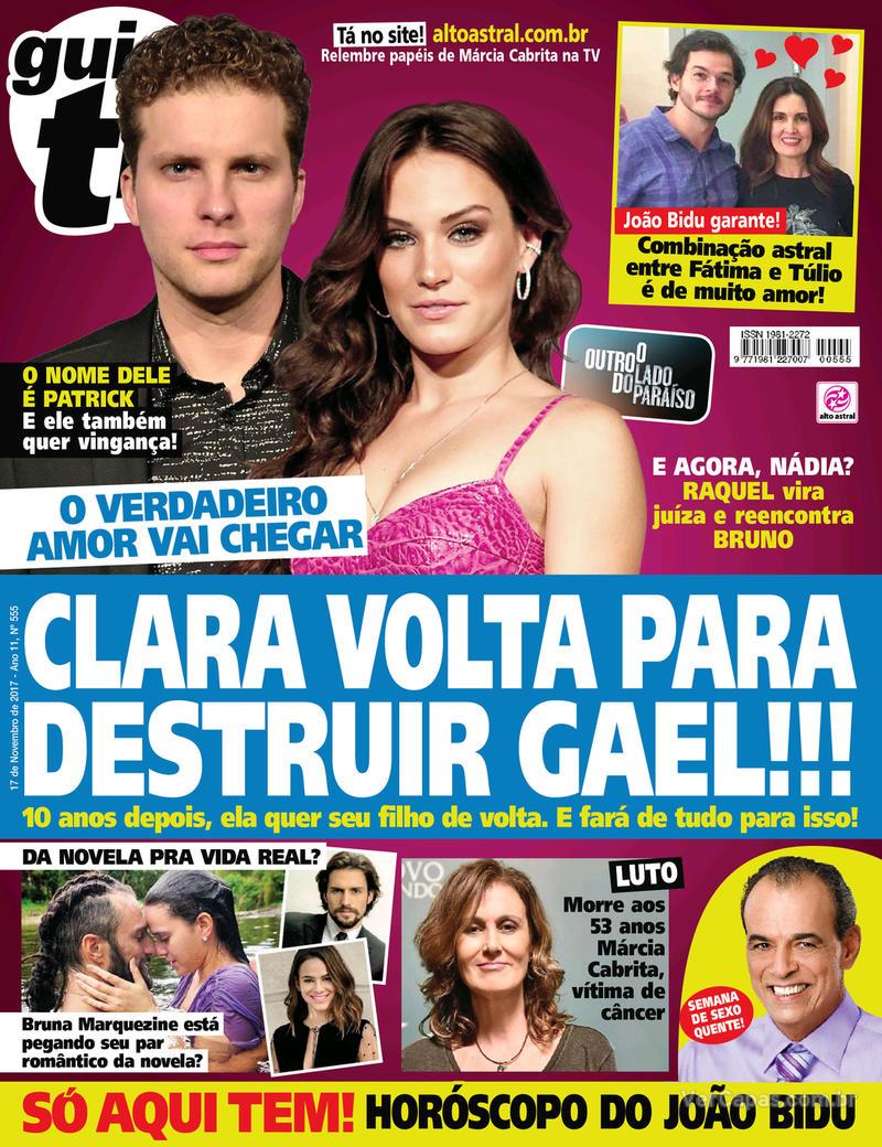 Capa da revista Guia da Tevê 15/11/2017