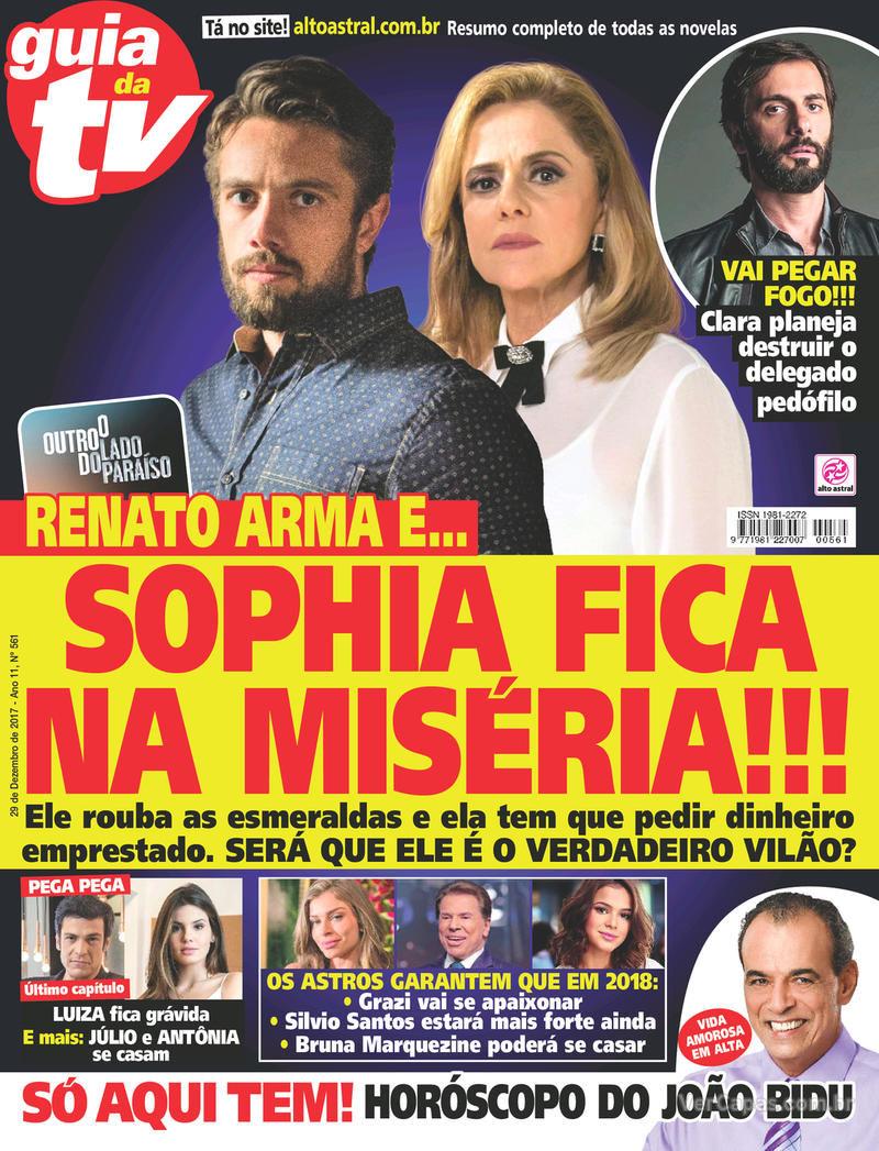 Capa da revista Guia da Tevê 27/12/2017