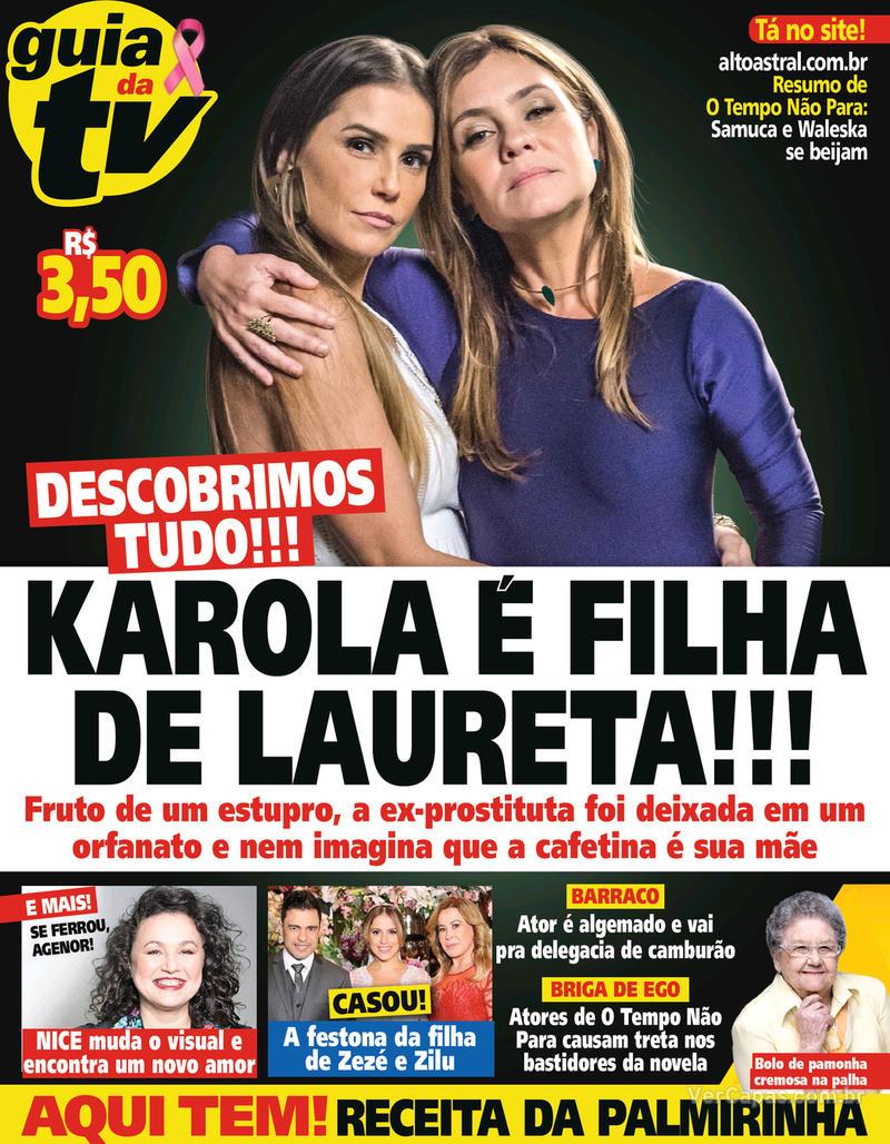 Capa da revista Guia da Tevê 03/10/2018