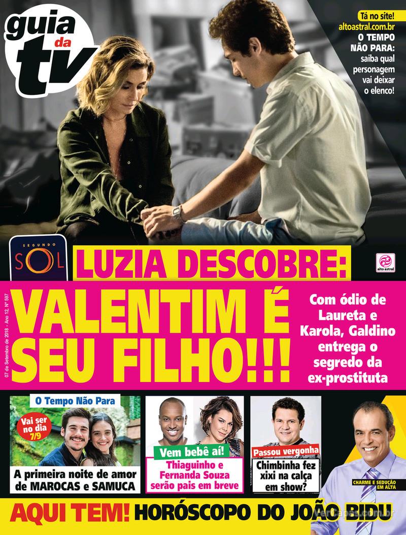 Capa da revista Guia da Tevê 05/09/2018