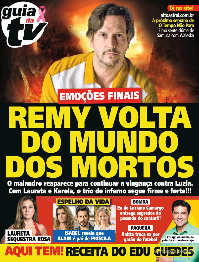 Capa da revista Guia da Tevê 10/10/2018