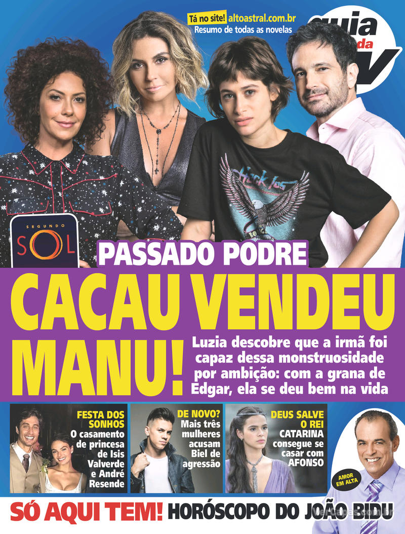 Capa da revista Guia da Tevê 13/06/2018
