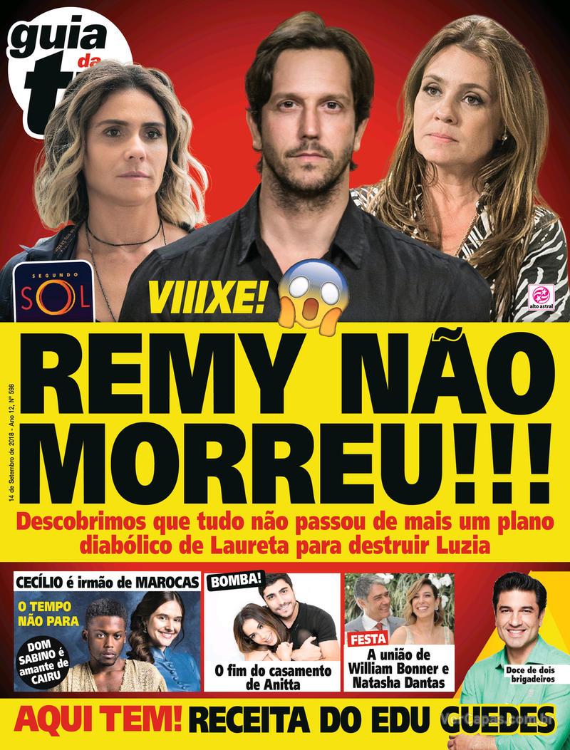 Capa da revista Guia da Tevê 12/09/2018