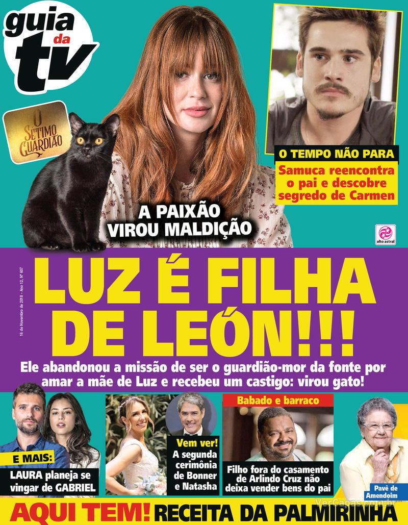 Capa da revista Guia da Tevê 14/11/2018