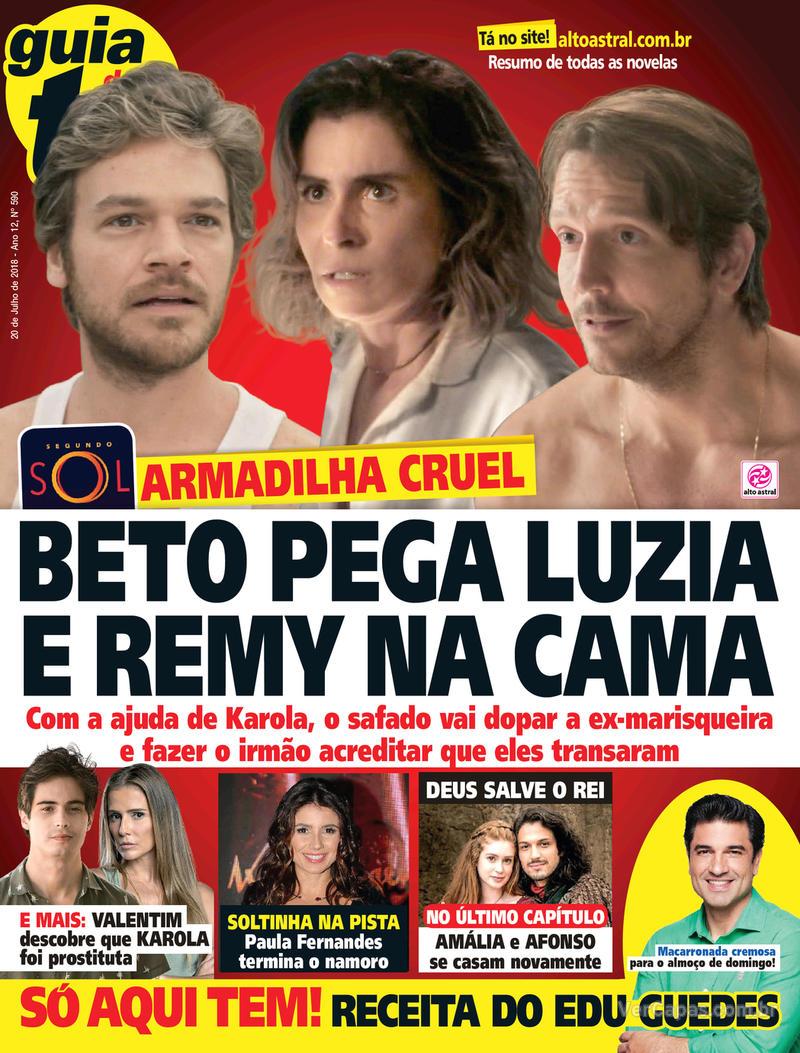 Capa da revista Guia da Tevê 18/07/2018
