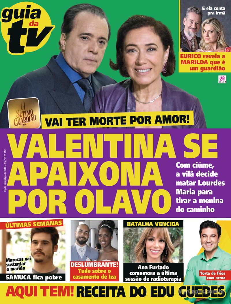 Capa da revista Guia da Tevê 19/12/2018